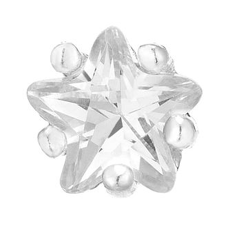 Sterling Silver Cubic Zirconia Star Stud Earring - Product number 6081649
