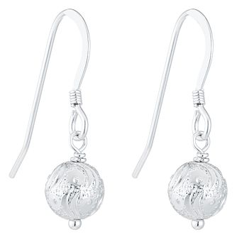 Sterling Silver Glitz Ball Drop Earrings - Product number 6081673