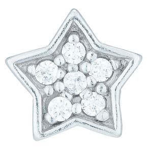 Sterling Silver Cubic Zirconia Set Star Stud Earring - Product number 6081800