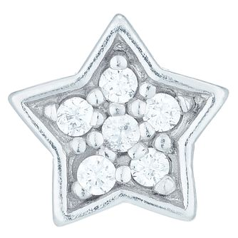 Sterling Silver Cubic Zirconia Set Star Stud Earrings - Product number 6081800