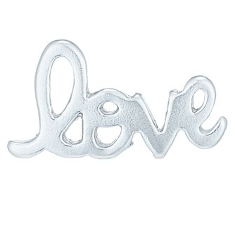 Sterling Silver Love Single Stud Earring - Product number 6082335
