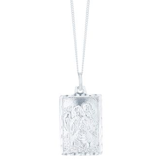 Sterling Silver Square St Christopher Pendant - Product number 6083021