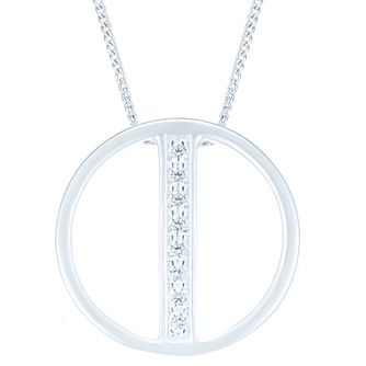 Sterling Silver Round Cubic Zirconia Fancy Pendant - Product number 6083226