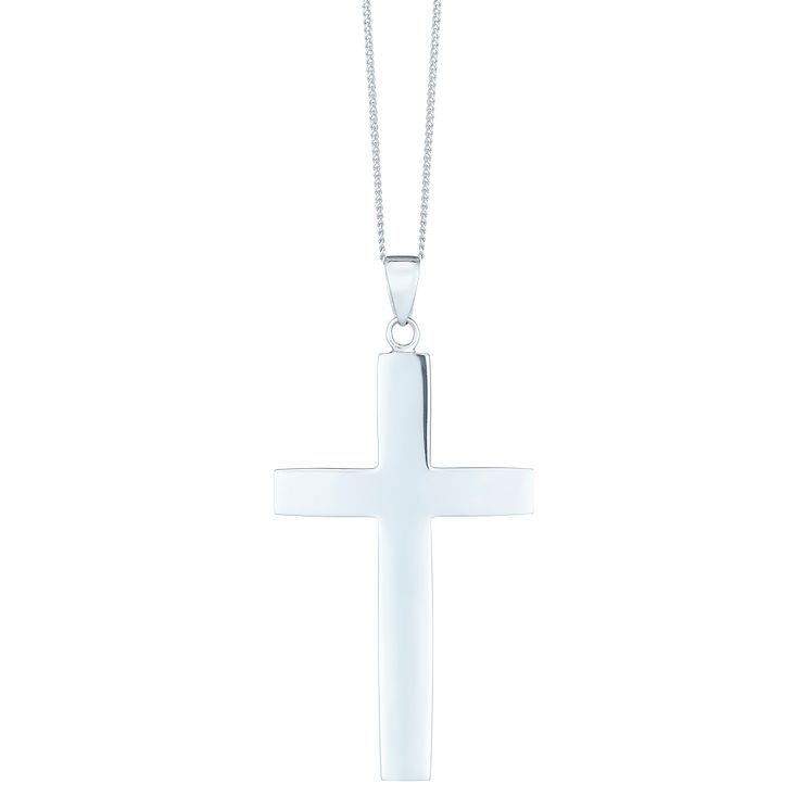 Sterling Silver Plain Large Cross Pendant - Product number 6083234