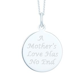 Sterling Silver Mum Infinity Message Pendant - Product number 6083269