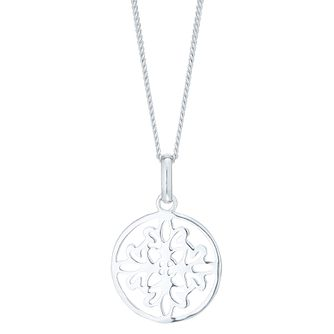 Sterling Silver Cut Out Filigree Round Pendant - Product number 6083285