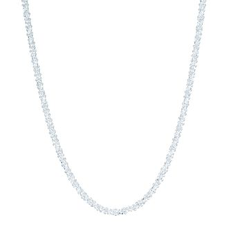Sterling Silver Adjustable Sparkle Chain Necklace - Product number 6083382
