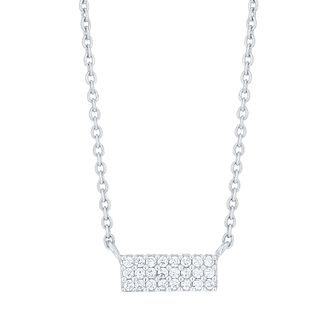 Sterling Silver Cubic Zirconia Bar Necklace - Product number 6083749
