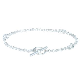 Sterling Silver Anchor T-Bar Bracelet - Product number 6083773