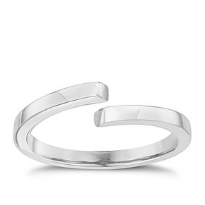 Sterling Silver Plain Crossover Ring Size L - Product number 6083943
