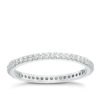 Sterling Silver Cubic Zirconia Set Full Eternity Ring Size P - Product number 6084079