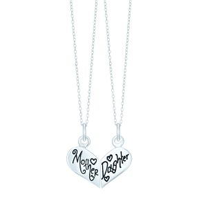 Sterling Silver Mother & Daugther Two Set Necklace - Product number 6084834