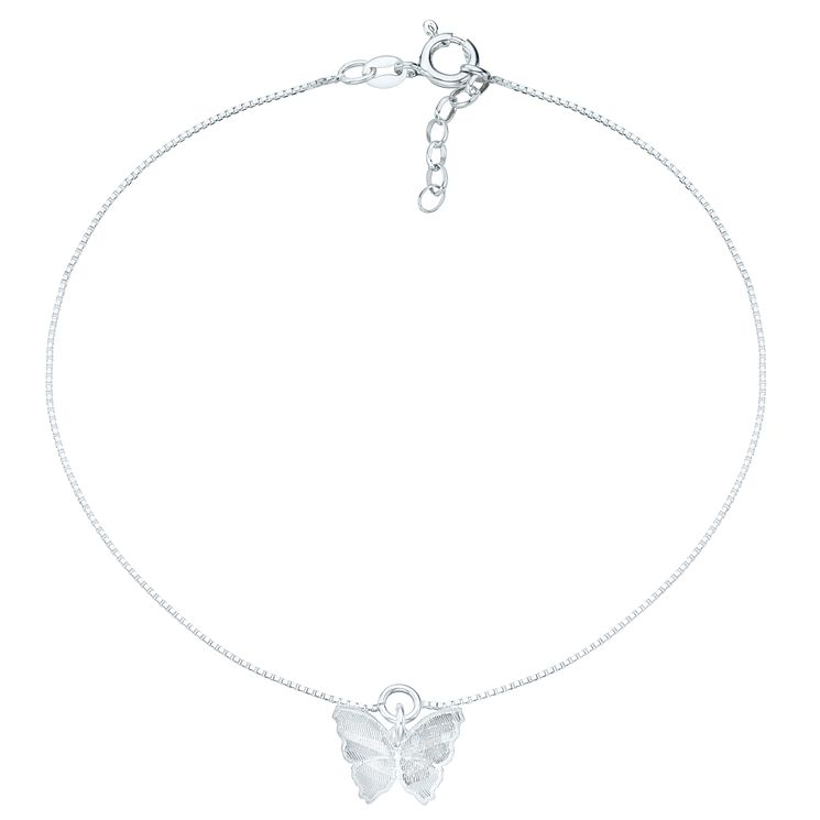 Sterling Silver Butterfly Anklet - Product number 6085040