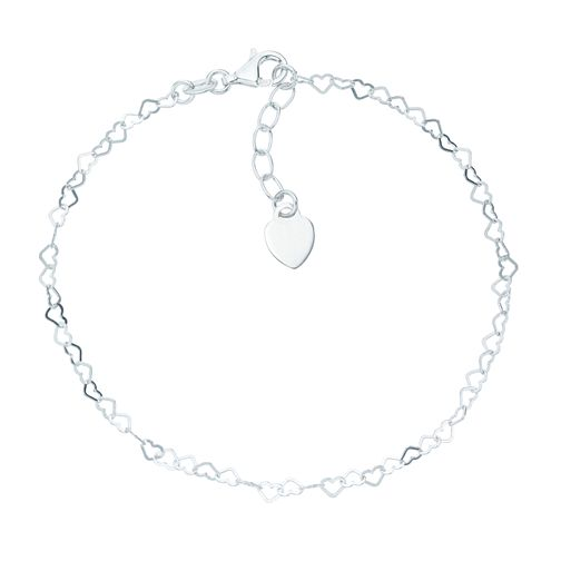 Sterling Silver Heart Anklet - Product number 6085067