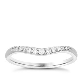 Platinum 0.10 Carat Diamond Set Shaped Band - Product number 6091385
