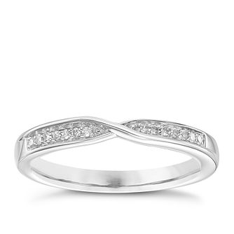 Palladium Diamond Set Crossover Band - Product number 6092896
