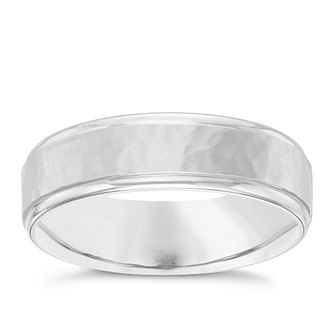 Palladium Hammered Design Ring - Product number 6094171