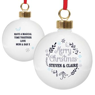 Personalised Christmas Frost Bauble - Product number 6094864