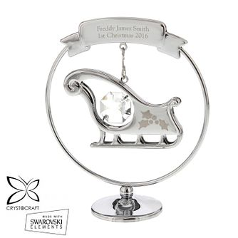 Engraveable Crystocraft Sleigh Ornament - Product number 6094953
