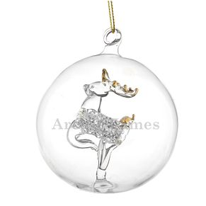 Engraveable Name Only Glass Reindeer Bauble - Product number 6094961