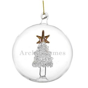 EngraveableGlass Christmas Tree Bauble - Product number 6094996