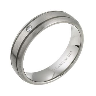 Men's Titanium Diamond Engagement Ring - Product number 6097286