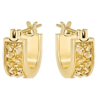 Swarovski Gold Plated Hoop Earrings - Product number 6100473