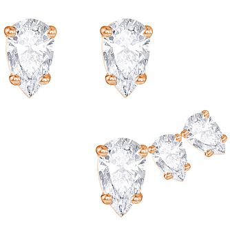 Swarovski Attract Gold Plated Earring Set - Product number 6100538