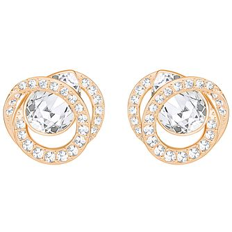 Swarovski Generation Rose Gold Plated Stud Earrings - Product number 6100546