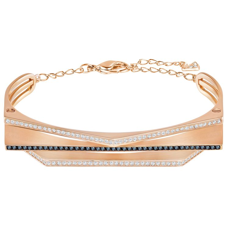 Swarovski Geometry Rose Gold Plated Bangle - Product number 6100856