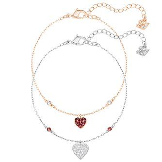 Swarovski Crystal Wishes Two Colour Crystal Bracelet Set - Product number 6100899