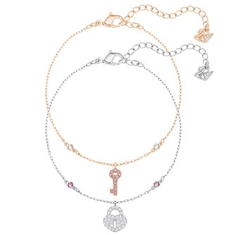 Swarovski Crystal Wishes Two Colour Crystal Bracelet Set - Product number 6100902