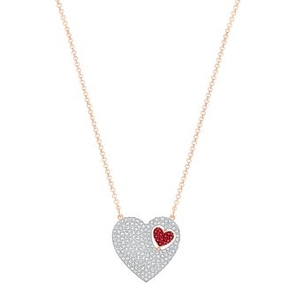 Swarovski Great Heart Gold Plated Crystal Necklace - Product number 6101070