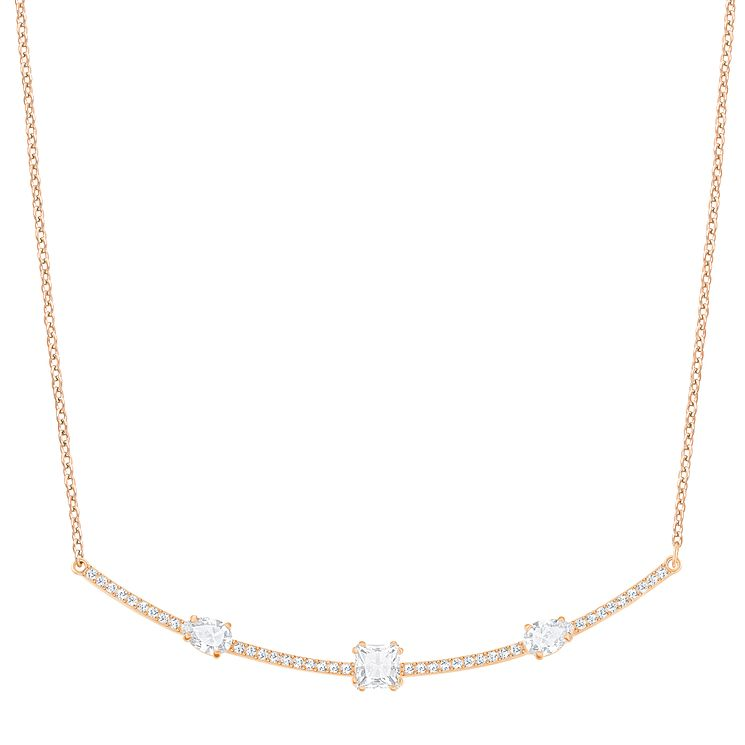 Swarovski Gray Rose gold Plated Stone Set Necklace - Product number 6101119