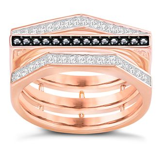 Swarovski Geometry Rose Gold Plated Ring Size P - Product number 6101151