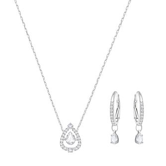 Swarovski Sparkling Dance Pear Necklace and Earring Set - Product number 6101232