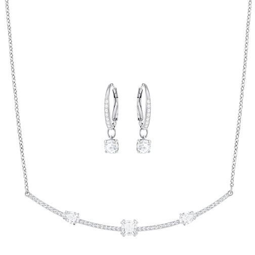 Swarovski Gray Stone Set Necklace and Earring Set - Product number 6101267