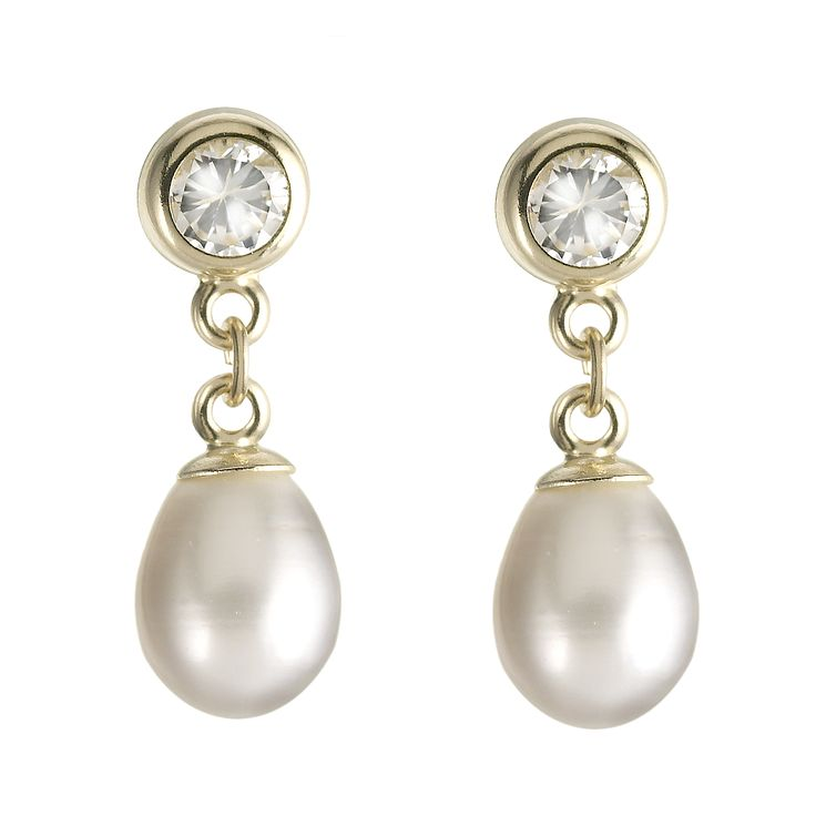 9ct Yellow Gold Cultured Fresh Water Pearl Earrings - Product number 6101526
