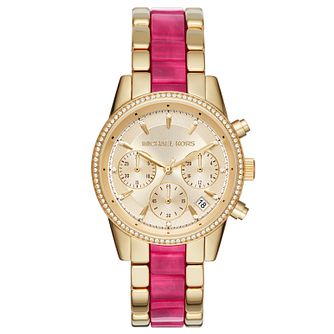 Michael Kors Ladies' Yellow Gold Tone Bracelet Watch - Product number 6103804