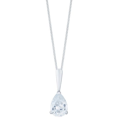 9ct White Gold With Cubic Zirconia Pendant - Product number 6104347