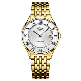 Rotary Les Originales Ultraslim Men's Gold Bracelet Watch - Product number 6111742