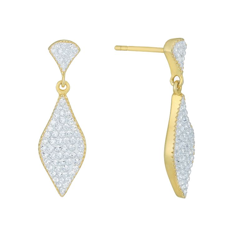 Evoke Gold-Plated Crystal Marquise Drop Earrings - Product number 6114407
