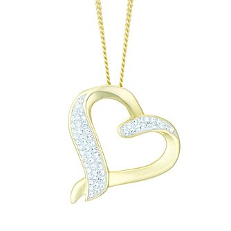 Evoke Gold-Plated Crystal Set Open Heart Pendant - Product number 6114466