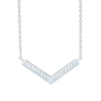Evoke Silver Crystal V Shaped Pendant - Product number 6114490