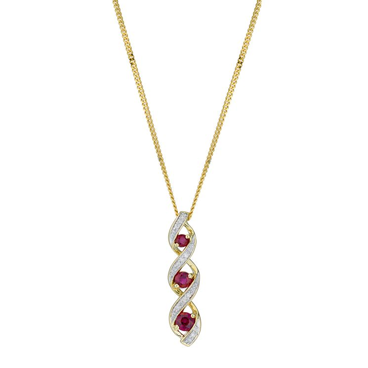 jewelry shop pendant esqueleto ruby small