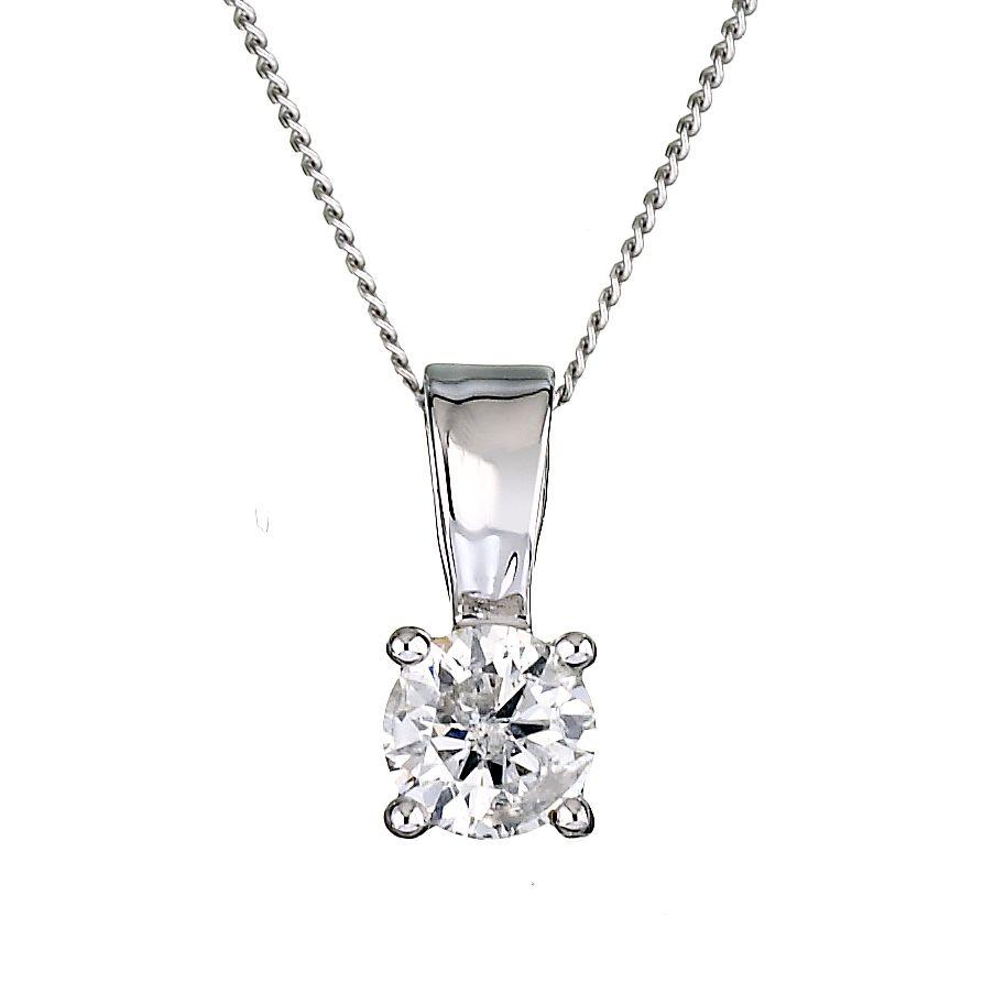 9ct white gold 12 carat diamond pendant hmuel 9ct white gold 12 carat diamond pendant product number 6115969 aloadofball Gallery