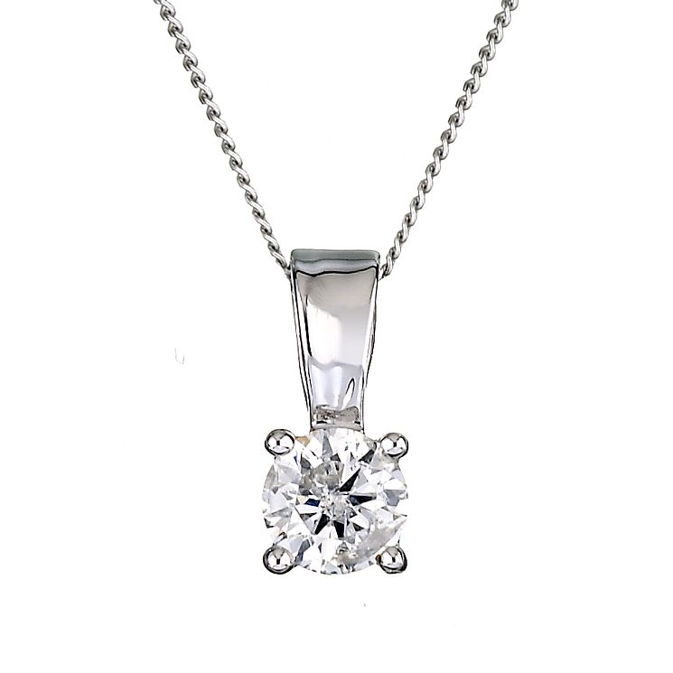 9ct White Gold 1/2 Carat Diamond Pendant - Product number 6115969