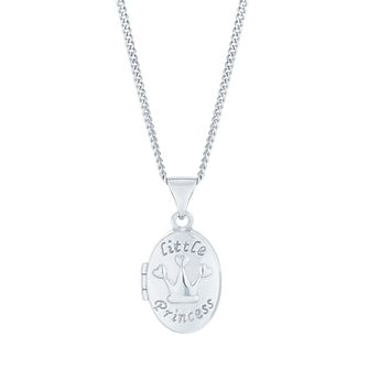 Sterling Silver Little Princess Oval Locket - Product number 6116361