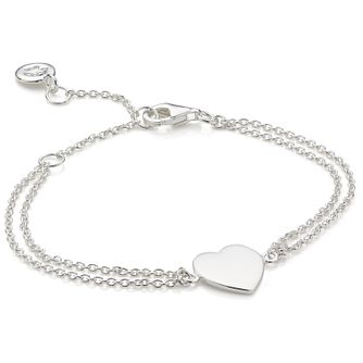 Molly Brown Sterling Silver Heart Charm Bracelet - Product number 6116507