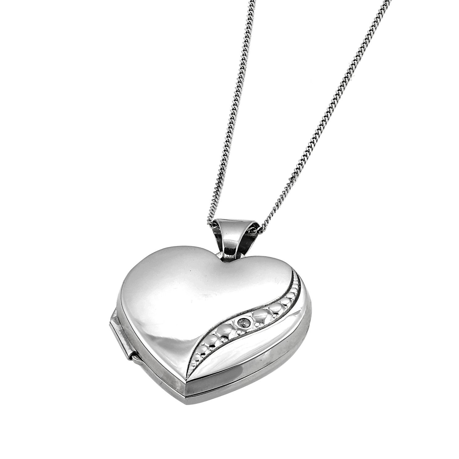 cz pendant girls clear gold shaped teens necklace plated locket heart itm
